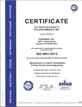 Cellotape ISO 9001:2015 Certification