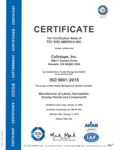 Download our ISO Certification