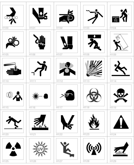Cellotape Incorporated Safety Label Design Guide Safety Symbols